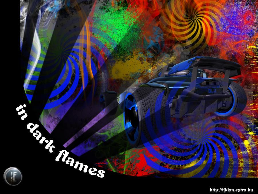 in flames wallpaper. In Dark Flames Wallpaper by