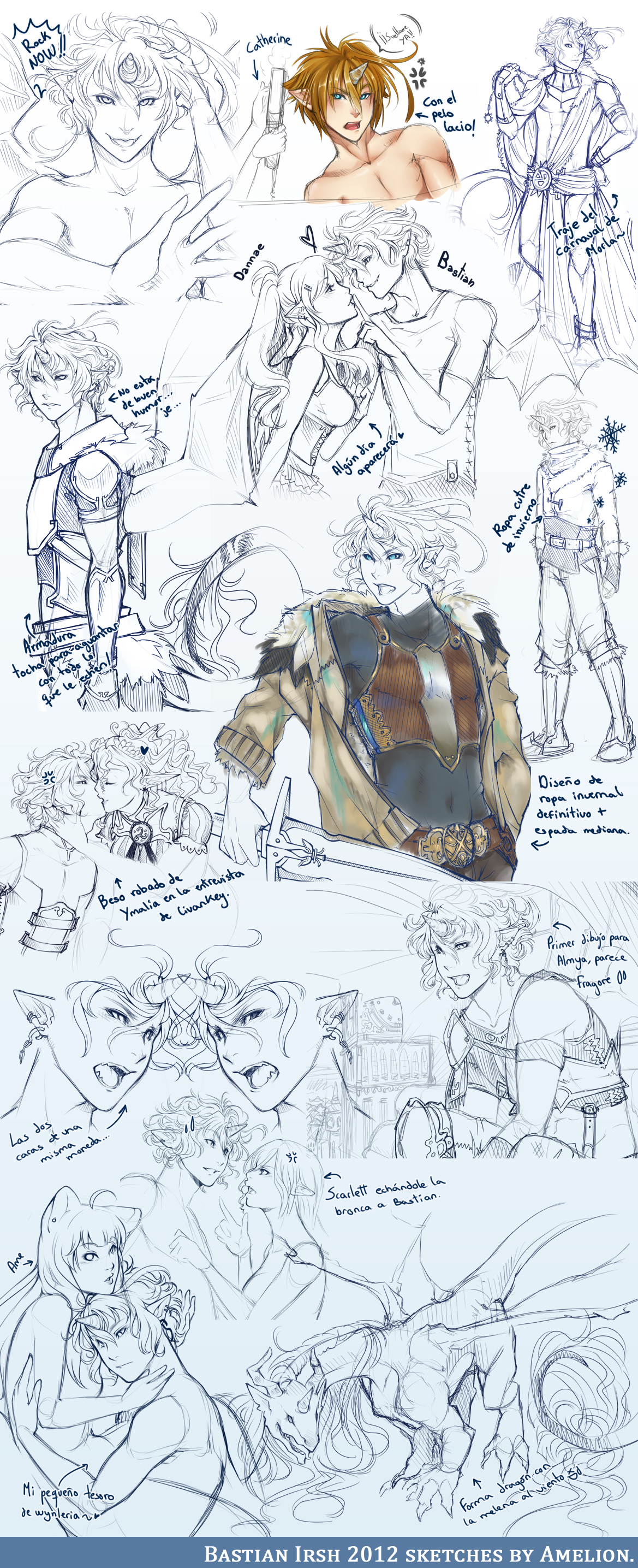 . Bastian Irsh 2012 sketches . by Amelion