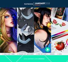 Patreon - JANUARY 2018 rewards