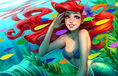 Colorful fish under the sea