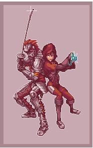 cavaleiro e feiticeira by dimitryfelipe