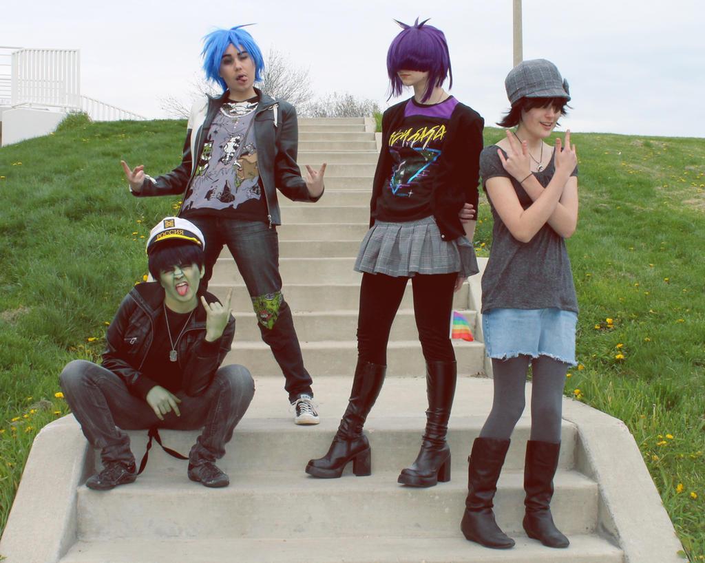 Gorillaz: The Band by Hello-Yuki
