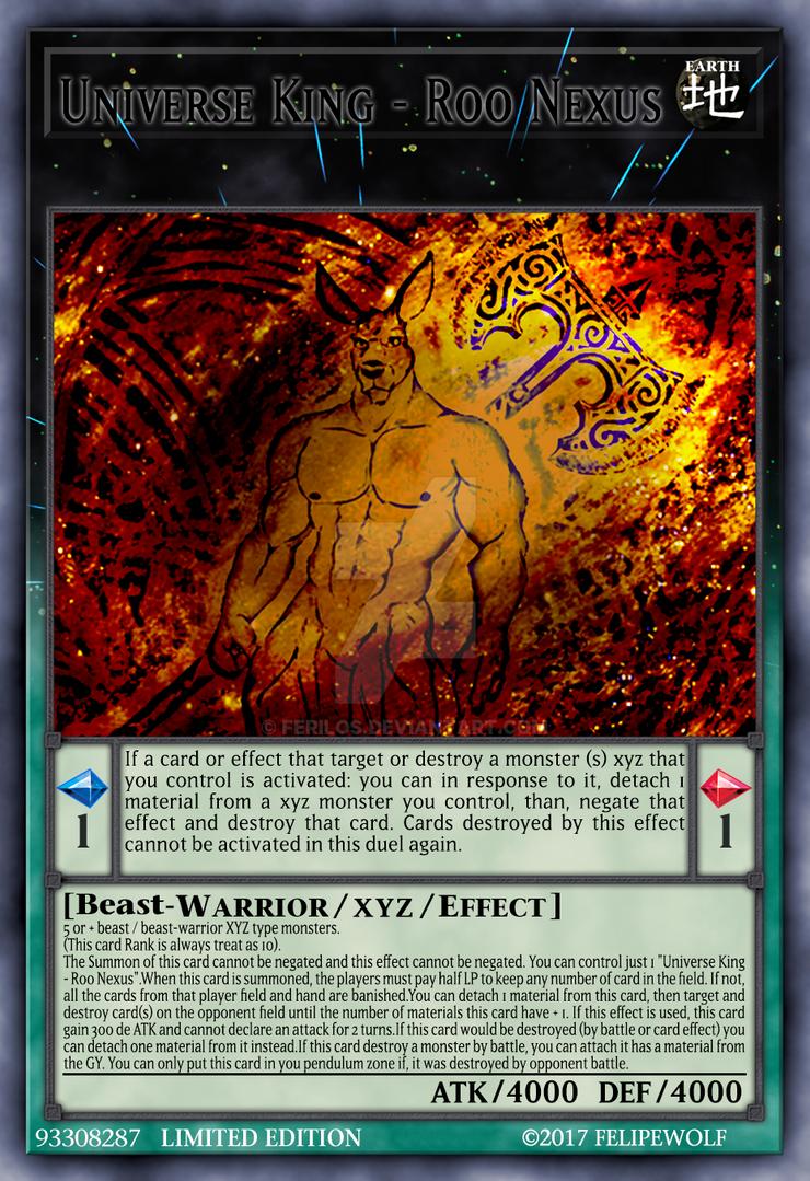 Yugioh Card: Universe King - Roo Nexus by Ferilos