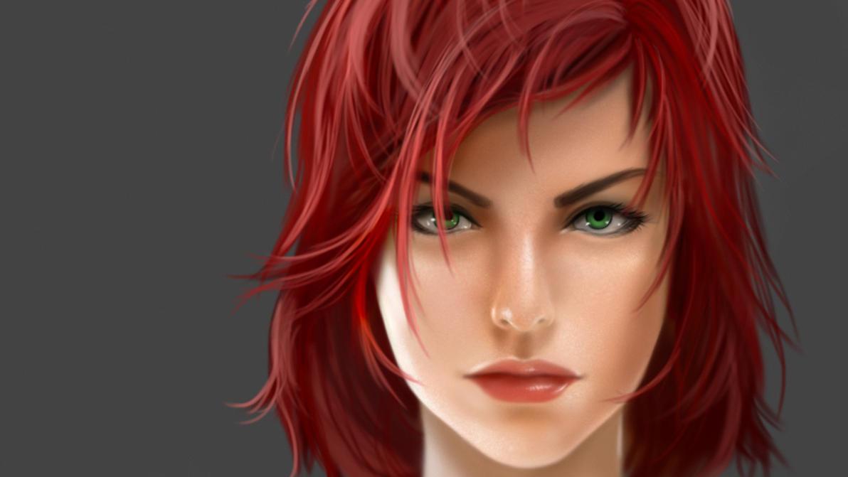 Female Commander Shepard Face by Aameeyur