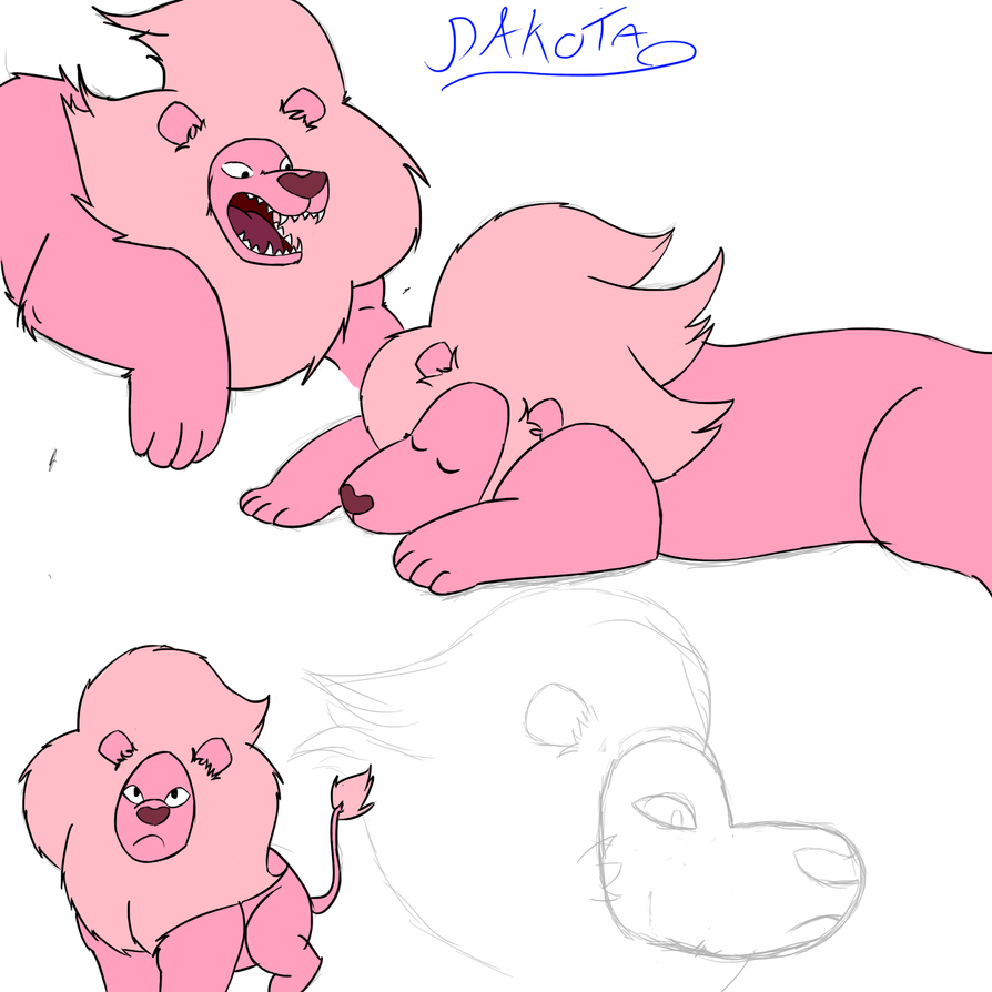 Steven's Lion Referenced Sketches Colored. by BaIto