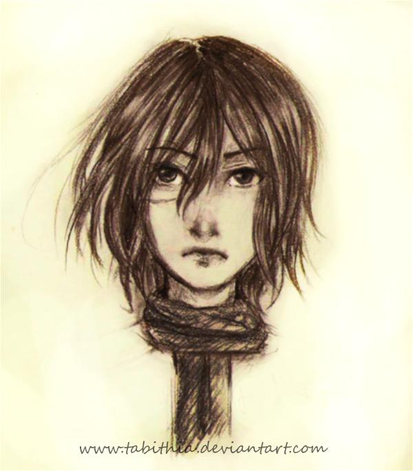 : Mikasa - portrait : by tabithia