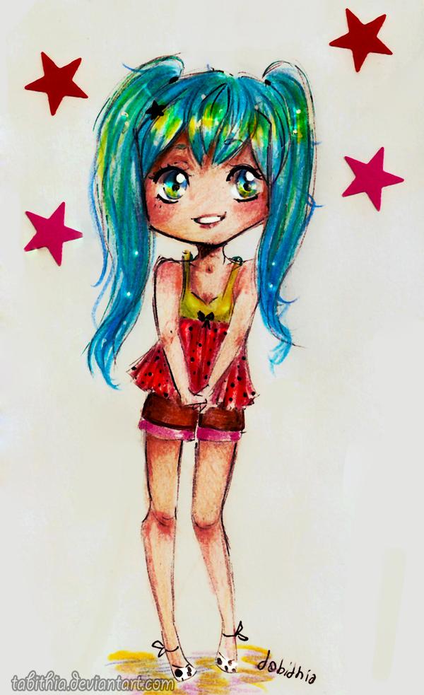 : Chibi Miku : by tabithia