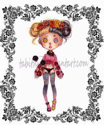 : Button eyed doll adopt - closed: