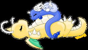 Dragon Cuddle Party by heatbish