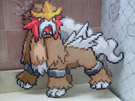 Pokemon: Perler Bead Entei by heatbish
