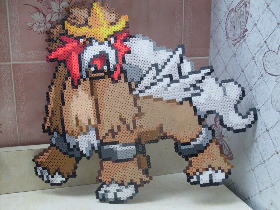 Pokemon: Perler Bead Entei by heatbish
