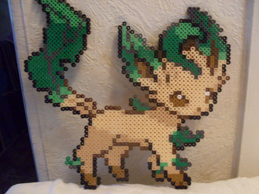Pokemon: Perler Bead Leafeon by heatbish