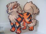 Pokemon: Perler Bead Arcanine Sprite