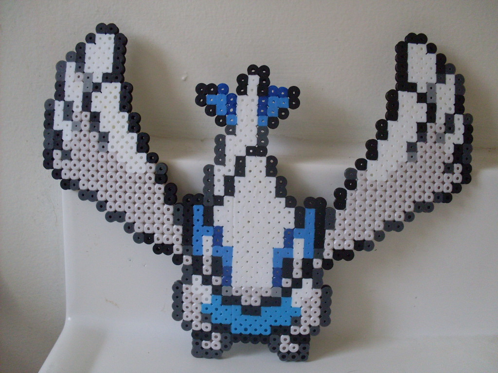 Pokemon: Perler Bead Lugia by heatbish