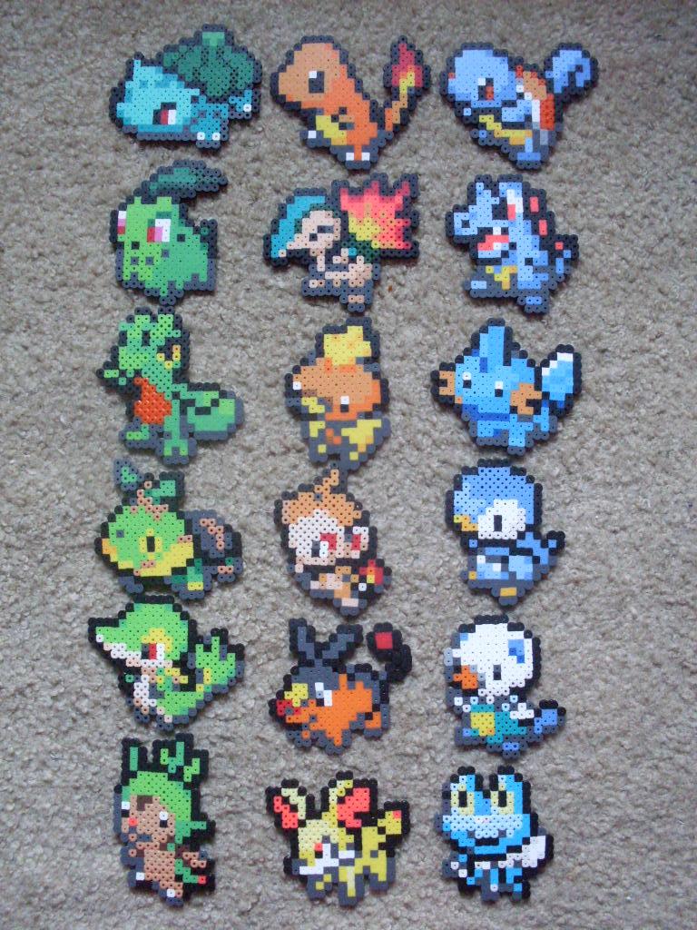 Pokemon: Perler Bead Starter Sets Generations 1-6 by heatbish