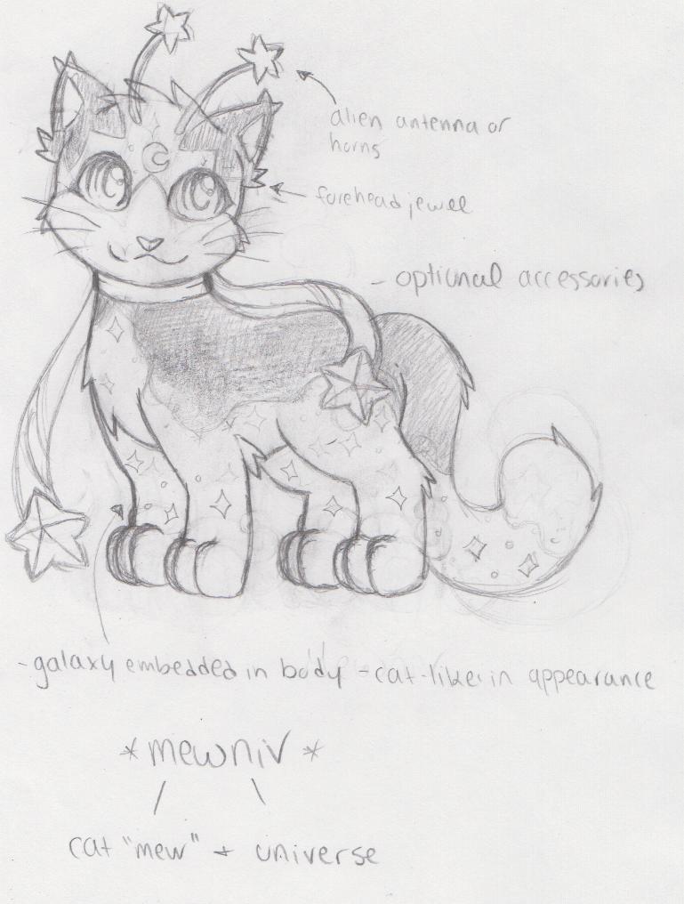 Mewniv Species: Concept Art / Sketch by heatbish
