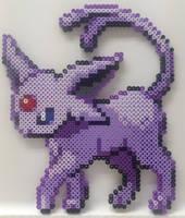 Pokemon - Perler Bead Espeon by heatbish