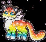 Fluffy Rainbow MEWNIV -- [ CLOSED ] Auction by heatbish