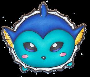 Pokemon - Chibi Vaporeon Tsum Tsum by heatbish