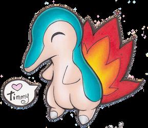 Pokemon - Cyndaquil by heatbish