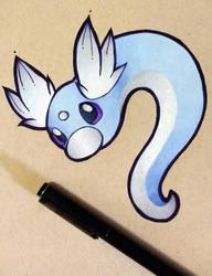 Pokemon - Dratini by heatbish
