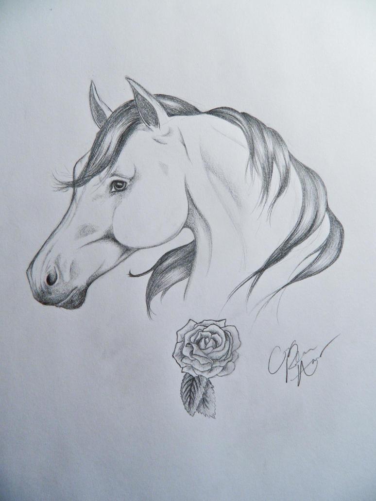 horseshoe tattoo drawing