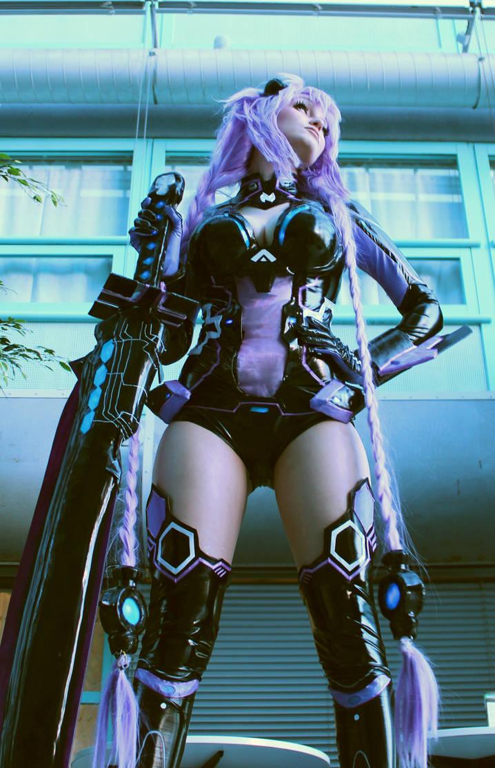 purple cosplay heart neptunia Hyperdimension