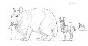 Canadatherium and Oplepus by Gredinia
