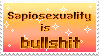 Sapiosexuality Stamp by FlowerGay