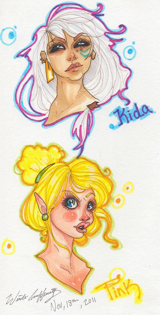 Kida and Tink by WinterRafferty