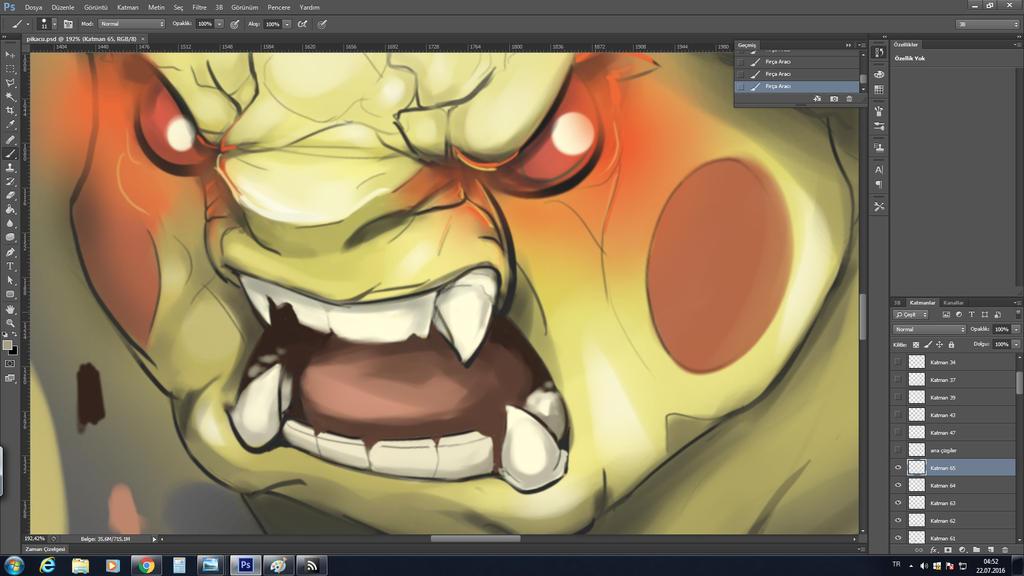 Evil Pikachu by TKMX