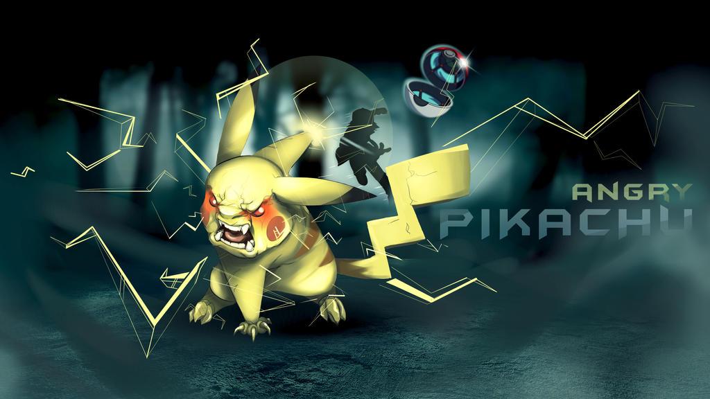 Angry Pikachu by TKMX