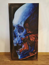 skull Canvas Painting by Atek92_tattooer