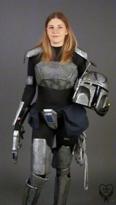 Mandalorian Bounty Hunter Costume Unequip Headgear by Kafae-Latte