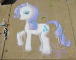 Rarity Chalk in the Park
