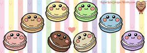 Kawaii Rainbow Macaroon Stickers!