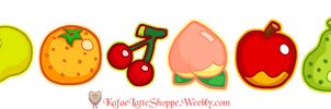 Animal Crossing Fruits by Kafae-Latte