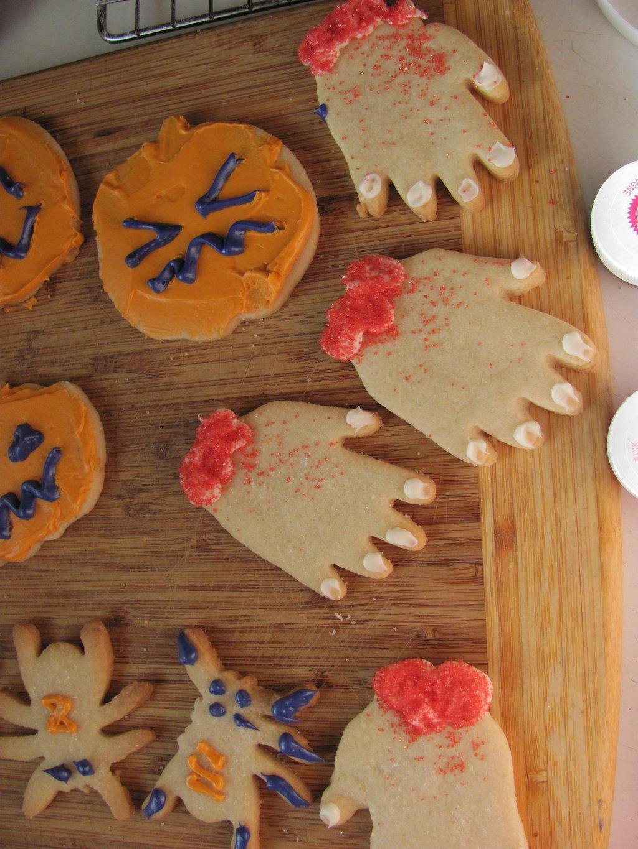 Halloween Cookies by Kafae-Latte
