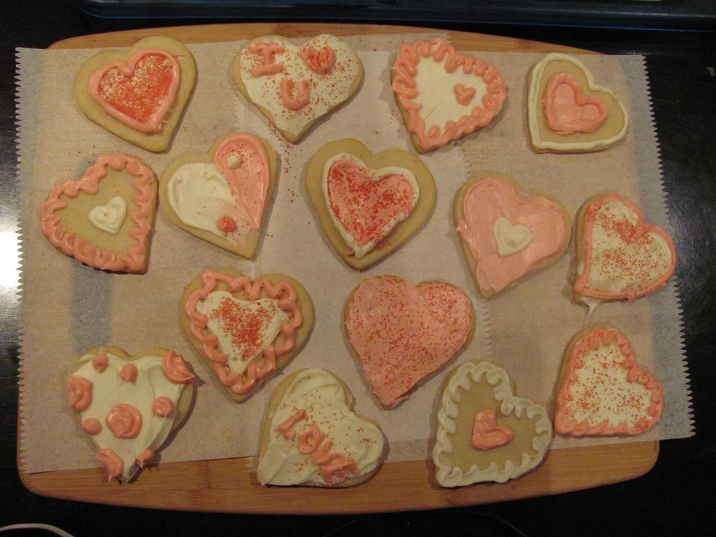 Valentines Cookies by Kafae-Latte