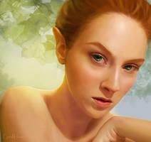 Elven Female - A Practice by GerdElise