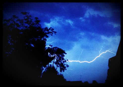 Lightning across a beautiful sky