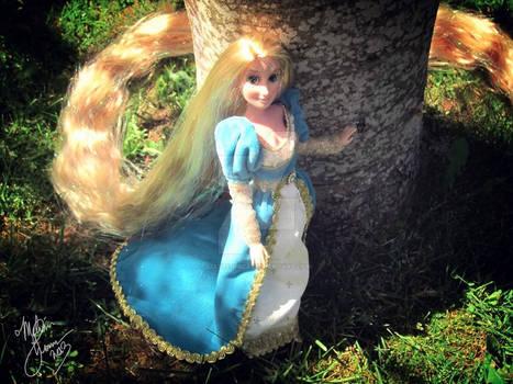 Rapunzel in Blue