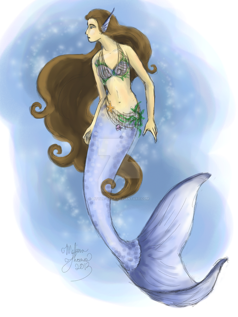 Blue Mermaid by Little-Orca