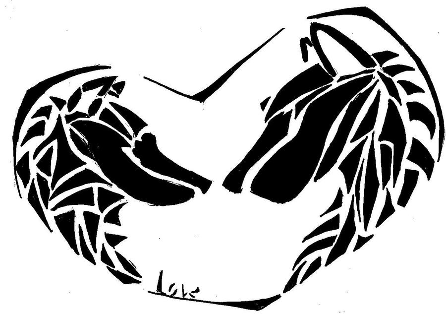 wolf love tattoo by hinata8d on deviantart. Black Bedroom Furniture Sets. Home Design Ideas