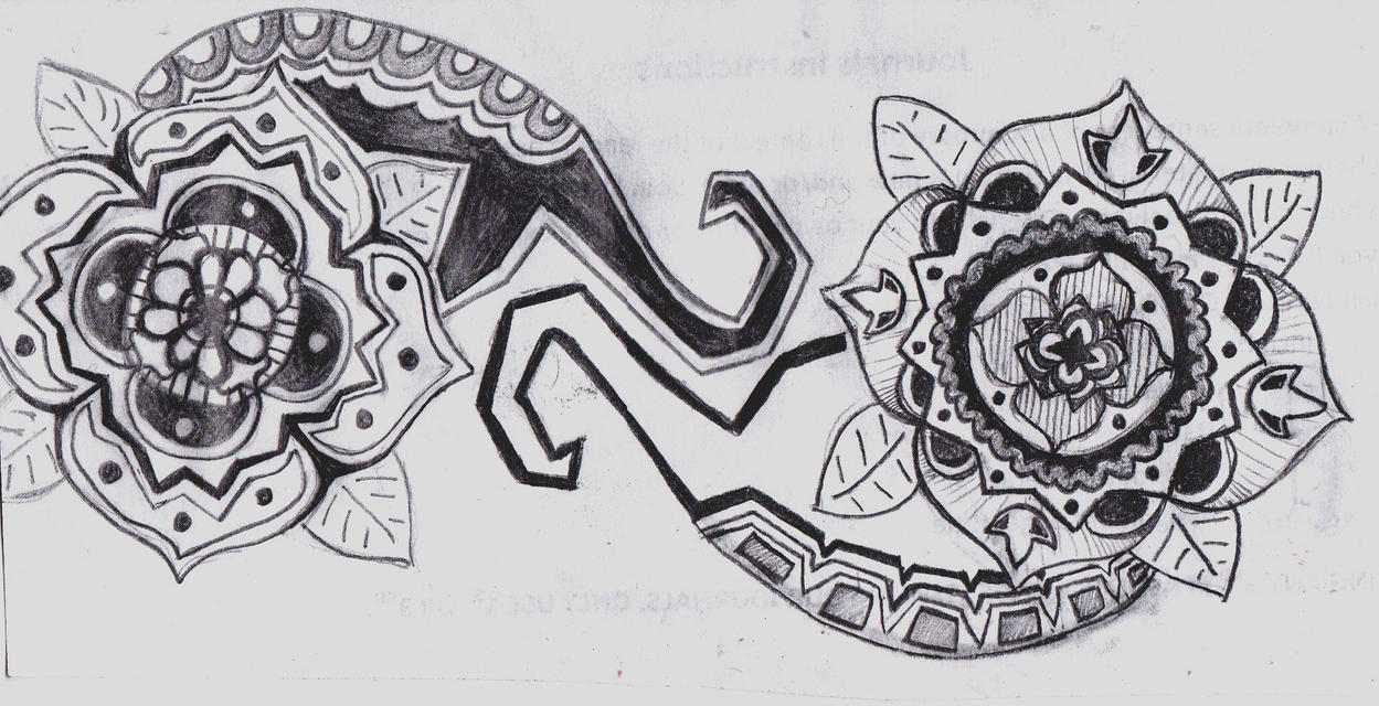More Zentangle-possible tattoo by hinata8D