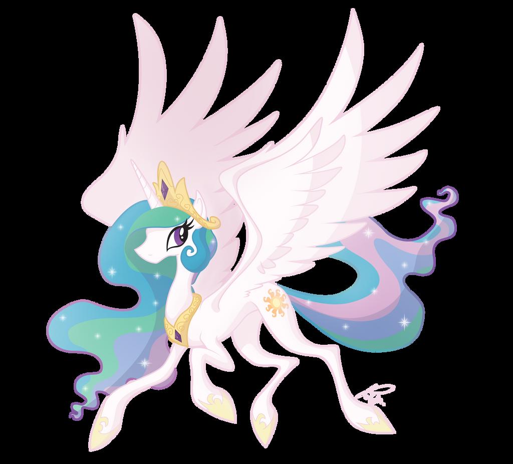 Princess Celestia by Utahraptorz-Poniez