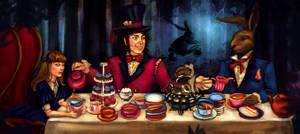 Alice in wonderland tea party by Fanartittude