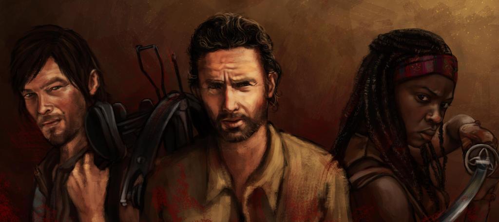 the Walking dead (Daryl, Rick , Michone) by Fanartittude ...