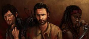 the Walking dead (Daryl, Rick , Michone) by Fanartittude
