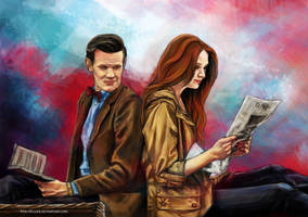 Eleventh doctor And Amy by Fanartittude